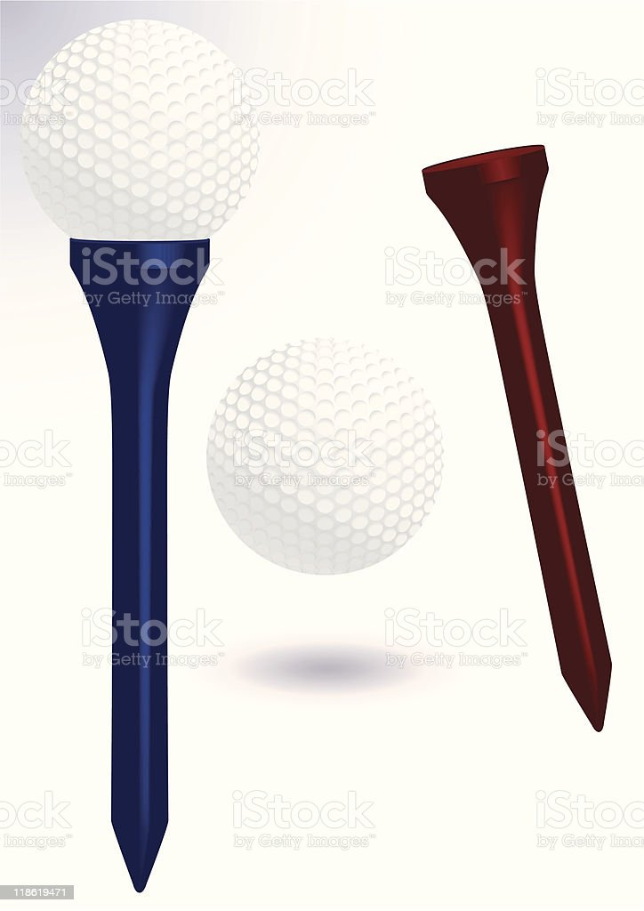 Golf ball and tee vector illustration royalty-free stock vector art