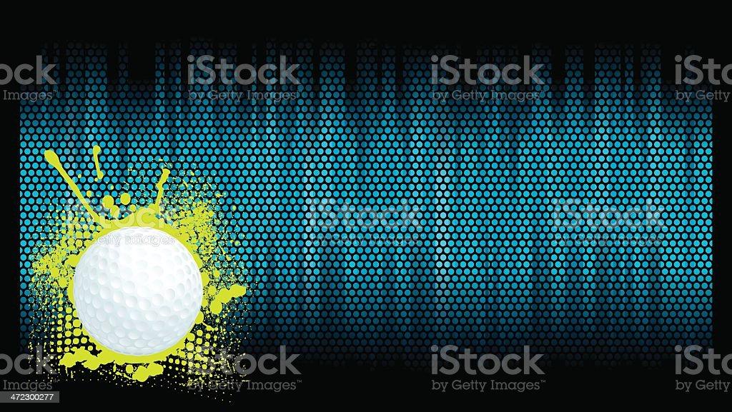 Golf Ball Background royalty-free stock vector art