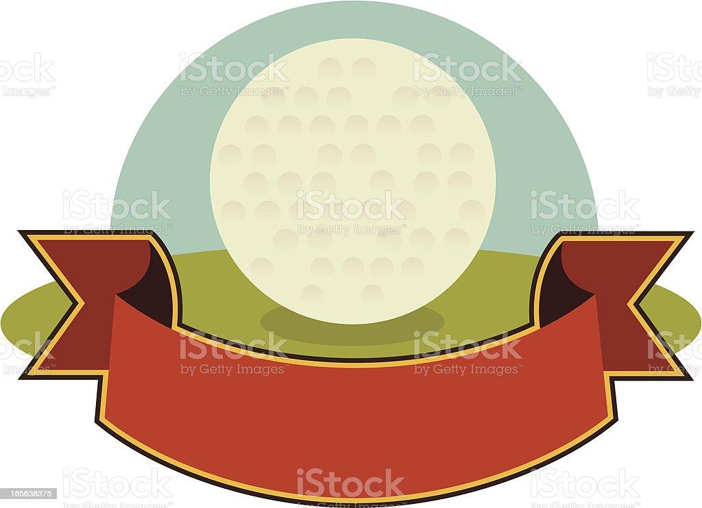 Golf Ball Banner royalty-free stock vector art