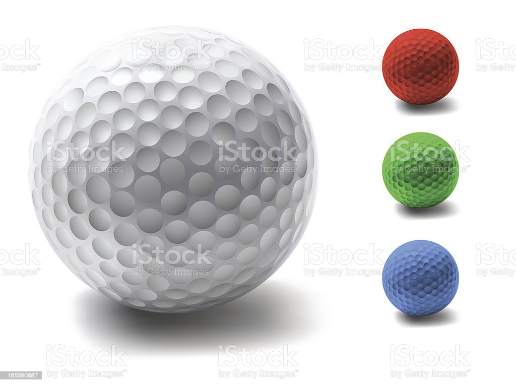 Golf Ball: Four Colors royalty-free stock vector art