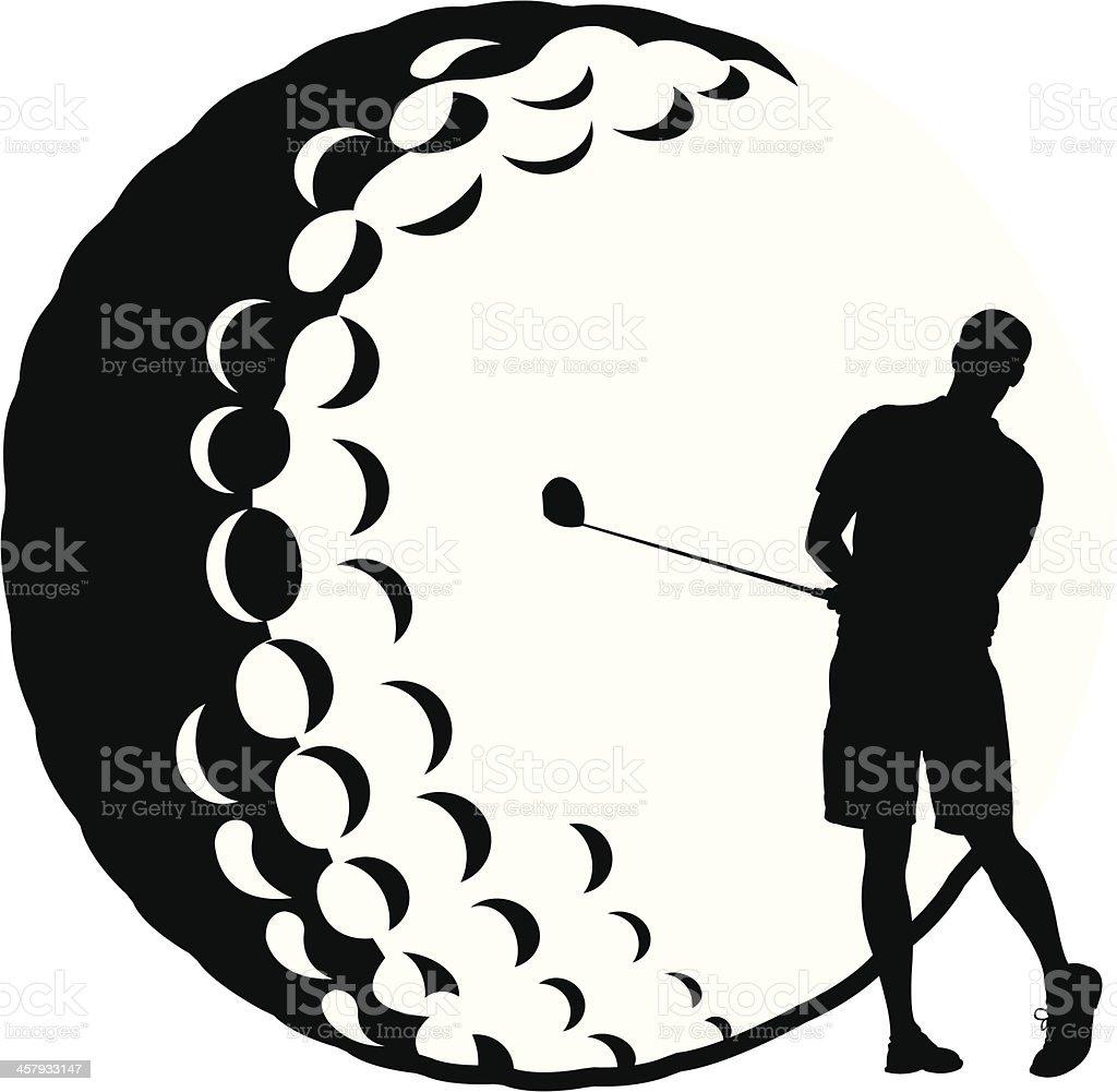 Golf - Ball Golfer making Capital 'G' - Teeing Off royalty-free stock vector art