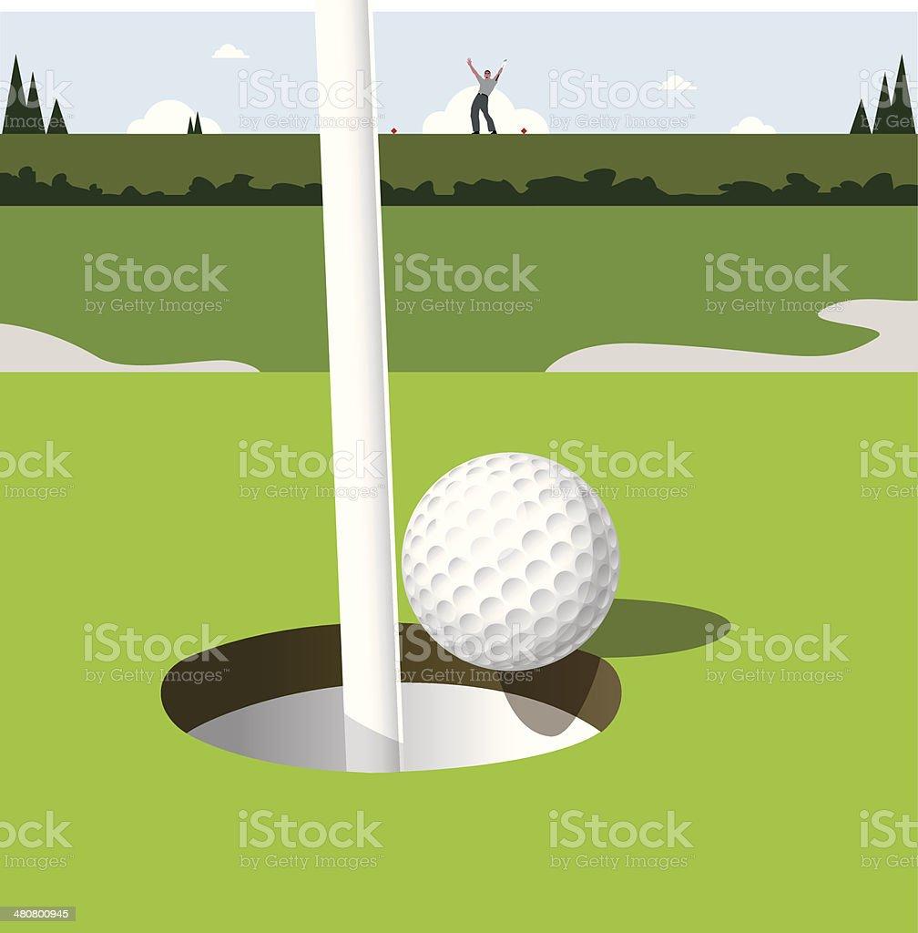 Golf Ball Hole In One C vector art illustration