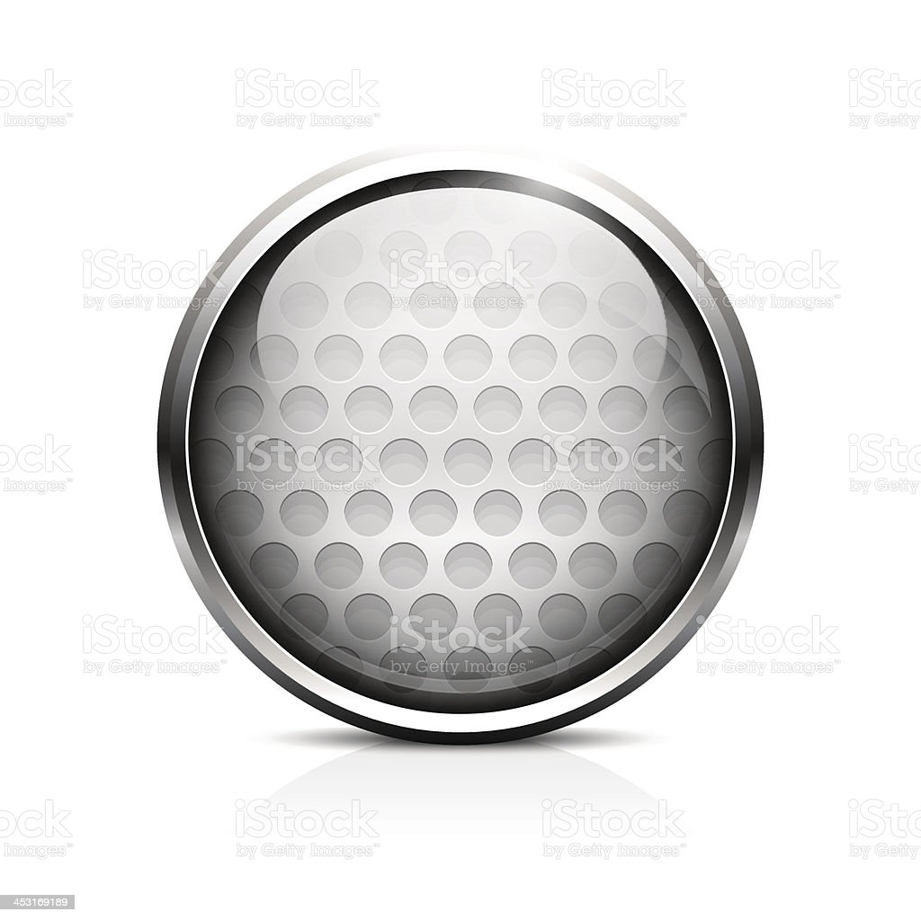 Golf ball icon vector art illustration