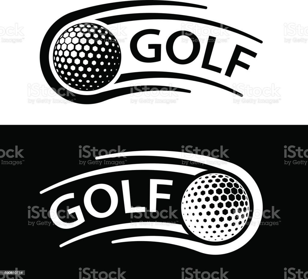 golf ball motion line symbol vector vector art illustration