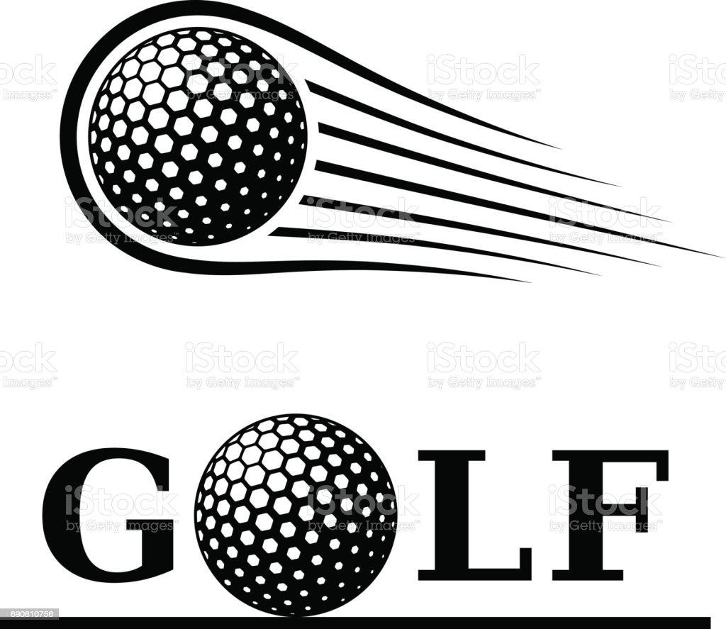 golf ball motion line text symbol vector vector art illustration