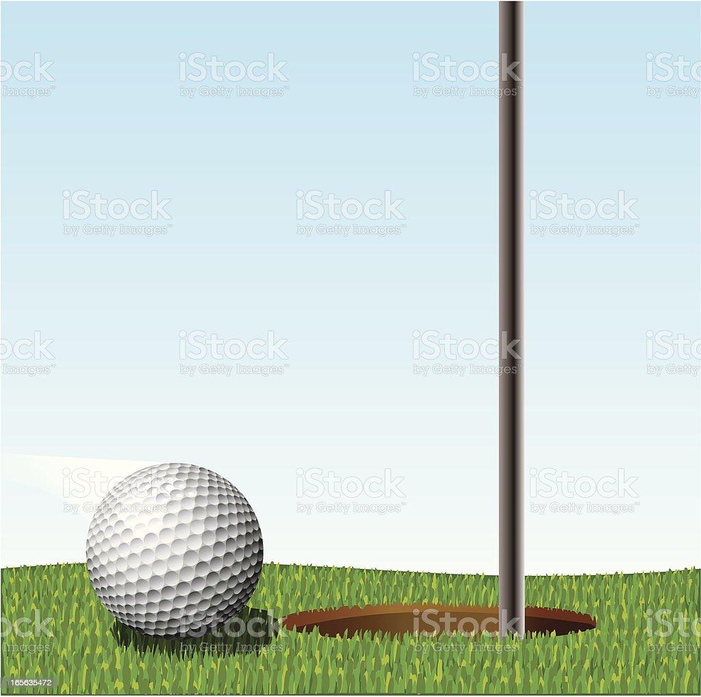 Golf ball on green royalty-free stock vector art