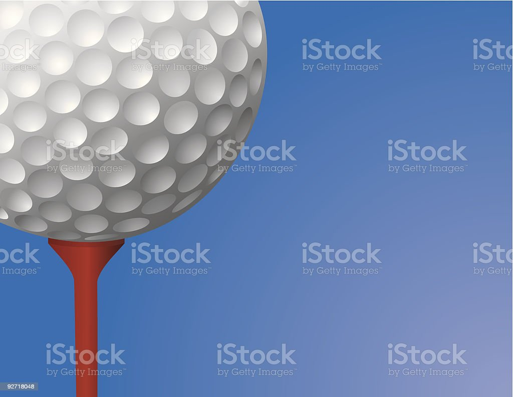 Golf Ball on Tee Vector royalty-free stock vector art