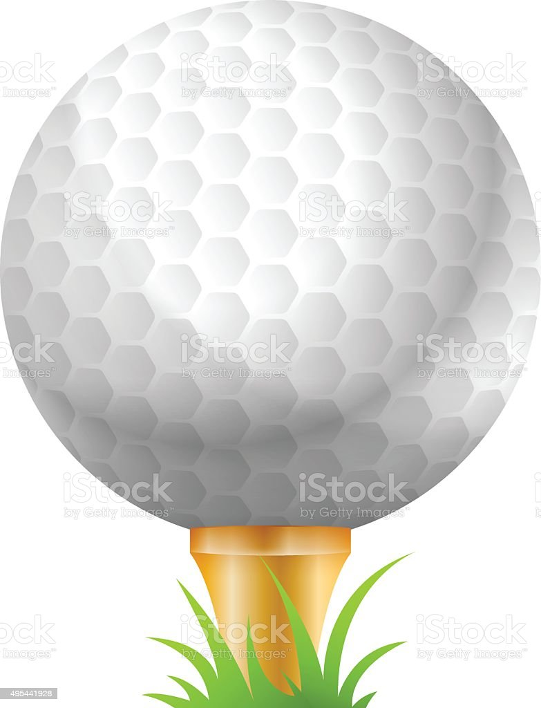 Vector Illustration of Golf Ball. Best for Sport, Design Element,...