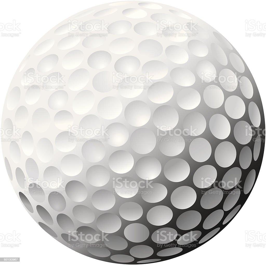Golf Ball Vector, Heavily Shadowed royalty-free stock vector art