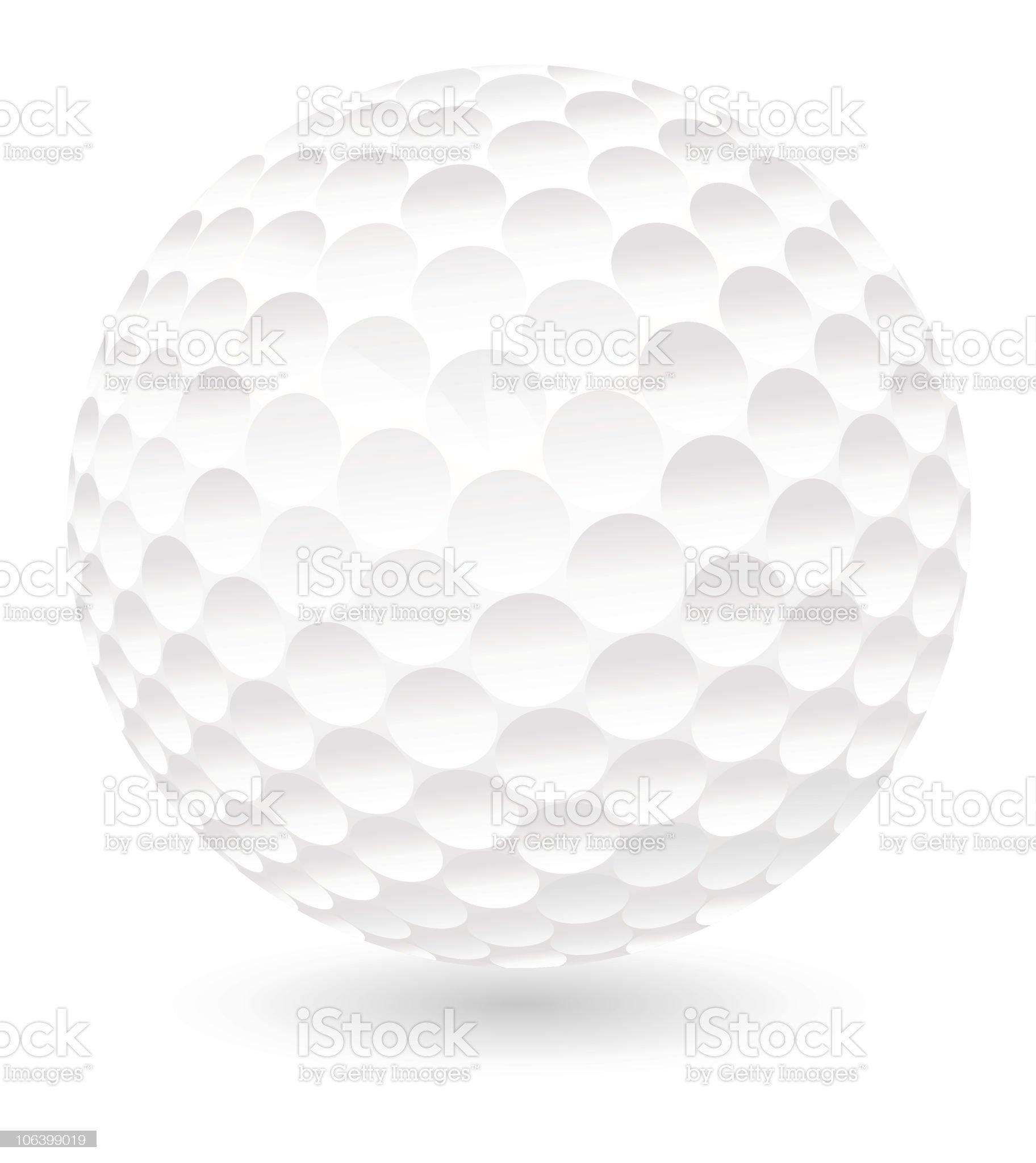 Golf ball royalty-free stock vector art