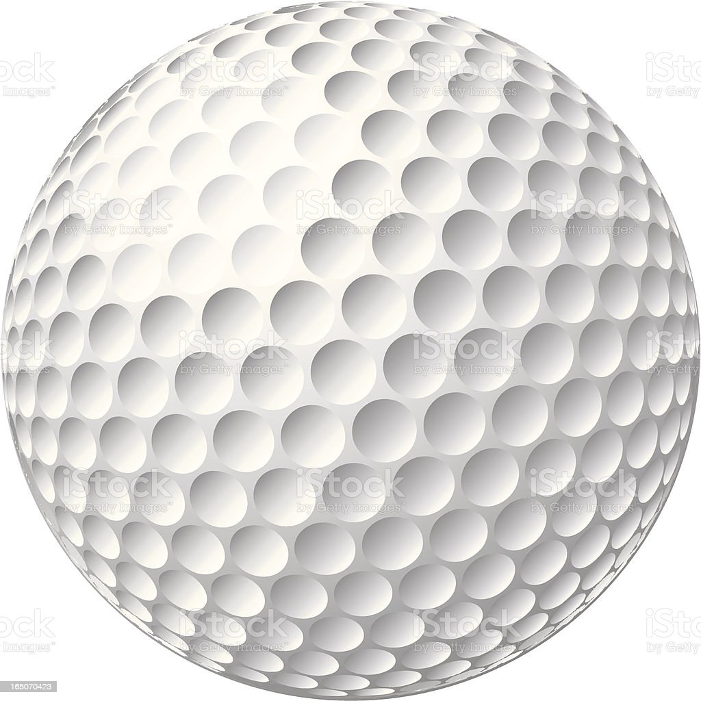 3D Golfball royalty-free stock vector art
