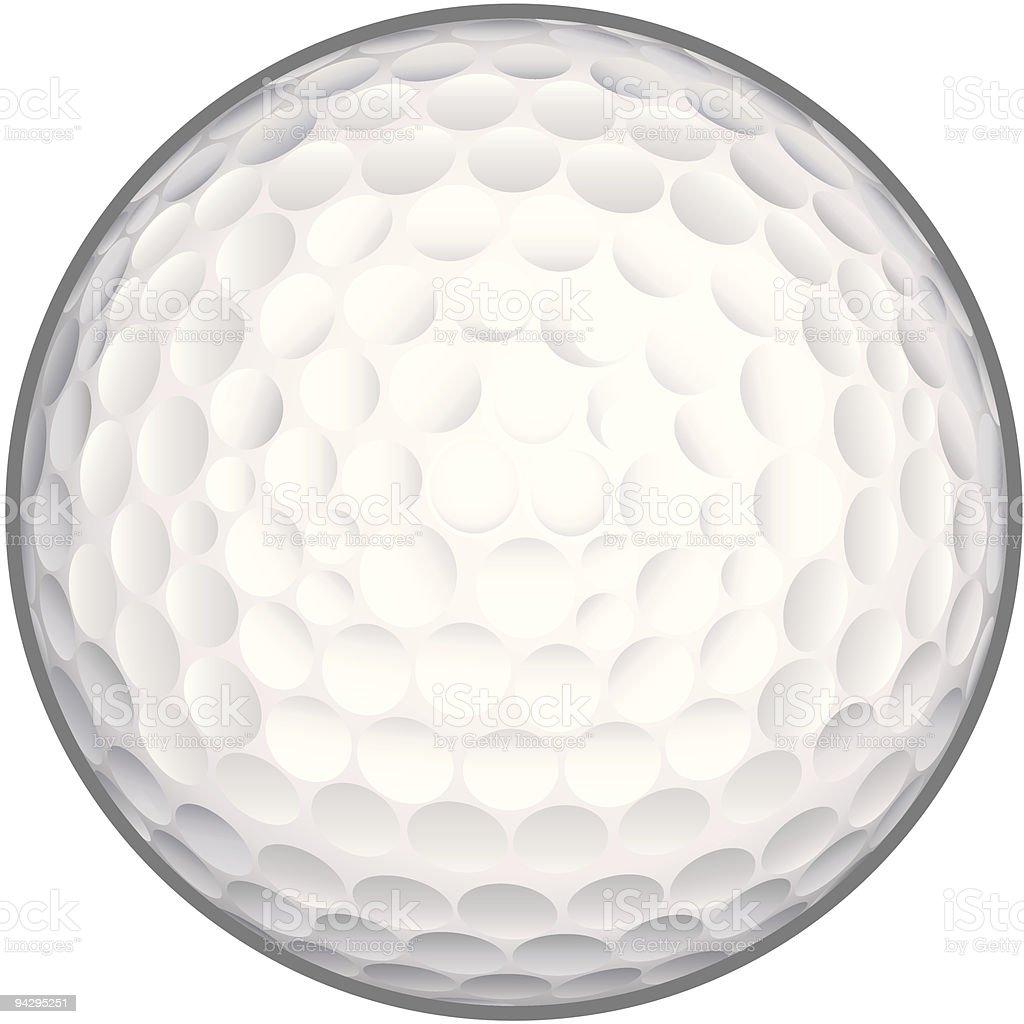 Golf ball (vector) royalty-free stock vector art