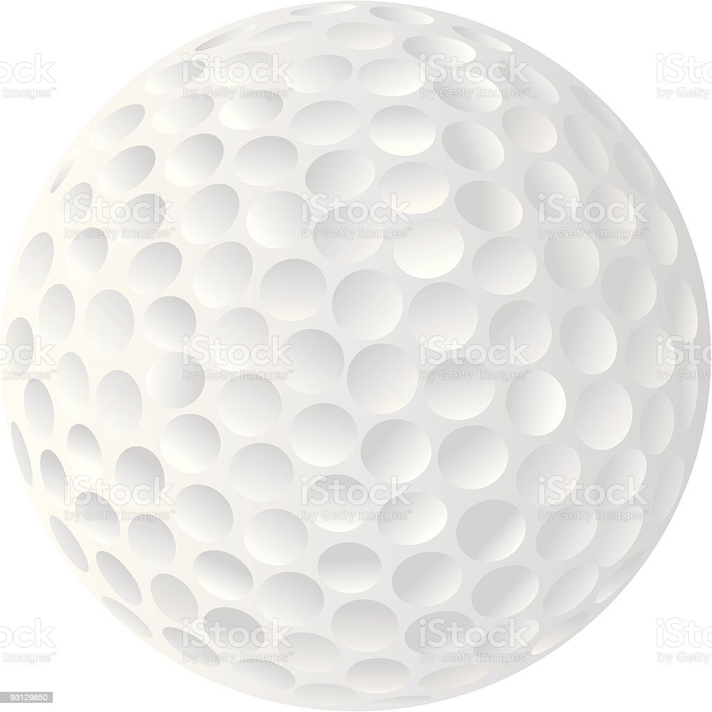 Golf Ball Vector, very detailed Isolated on White Background vector art illustration