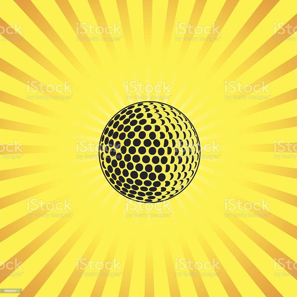 golf ball with burst vector royalty-free stock vector art