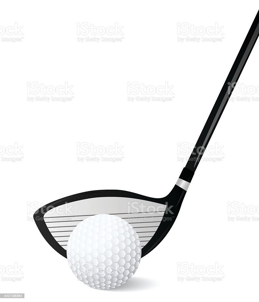 Golf Ball  With Stick vector art illustration