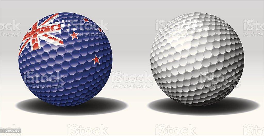 Golf ball-New Zealand royalty-free stock vector art