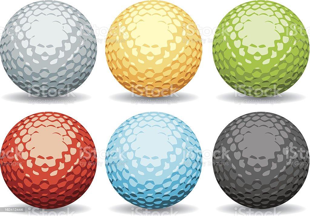 Golf Balls Collection royalty-free stock vector art