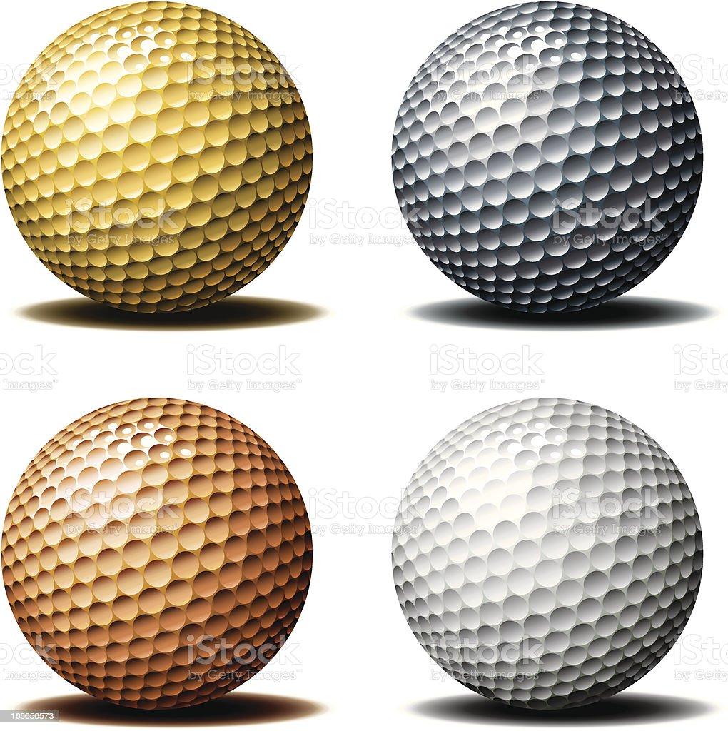 Golf ball-Trophy royalty-free stock vector art
