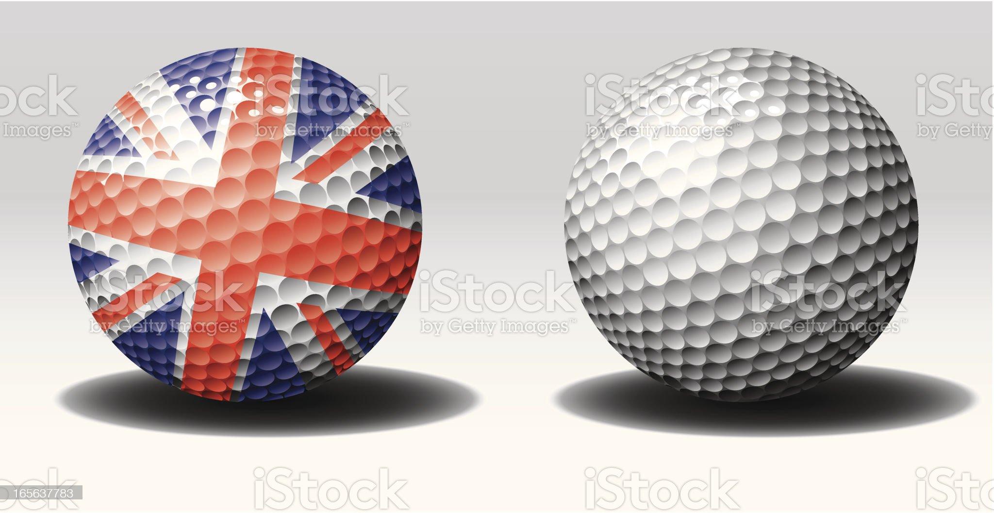 Golf ball-United kingdom royalty-free stock vector art