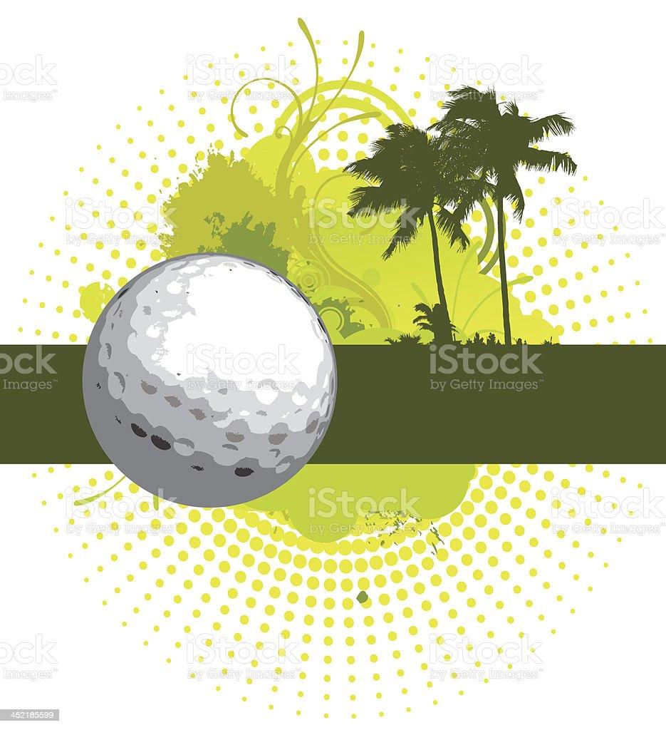 Golf Banner royalty-free stock vector art