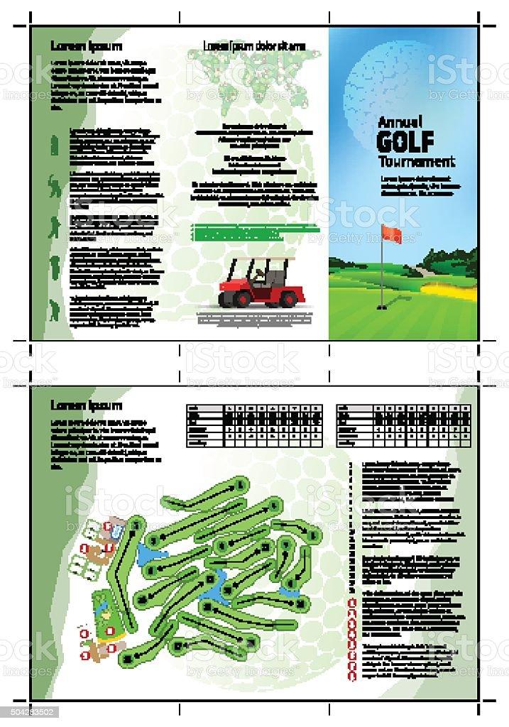 Golf brochure vector art illustration
