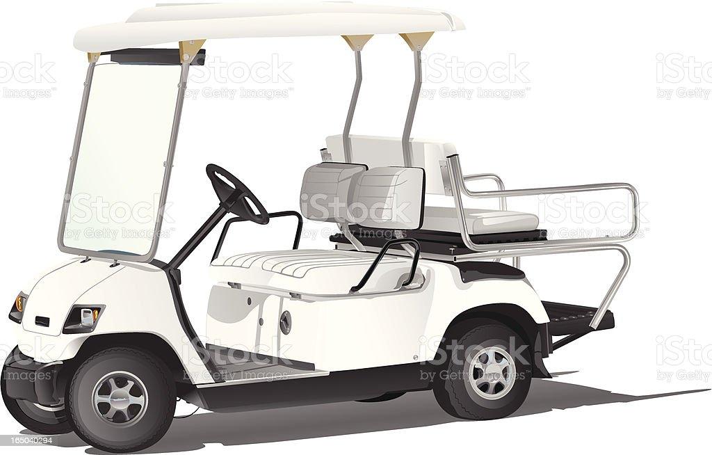 Golf Cart Four Seater royalty-free stock vector art