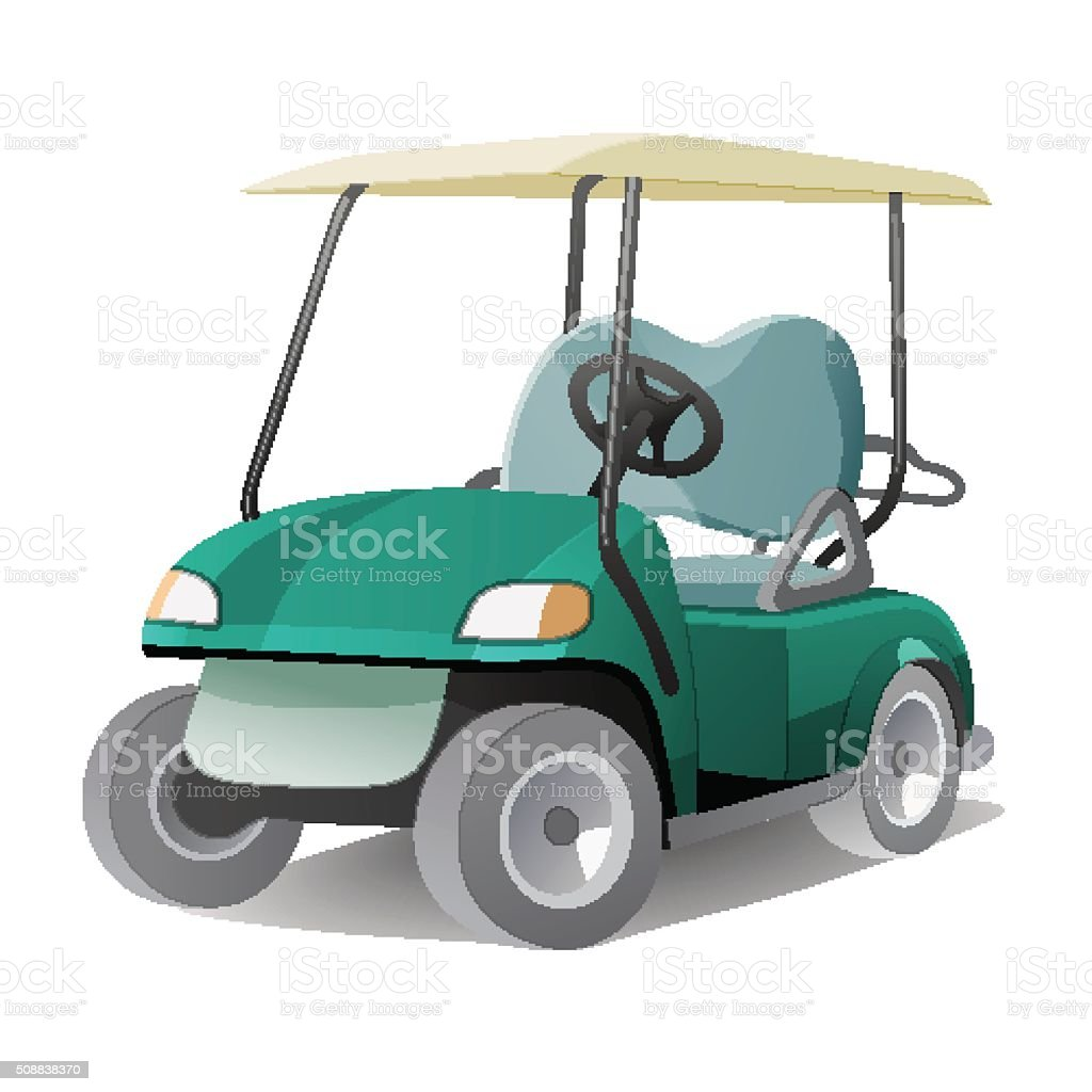 One Person Golf Cart >> Golf Cart Clip Art, Vector Images & Illustrations - iStock