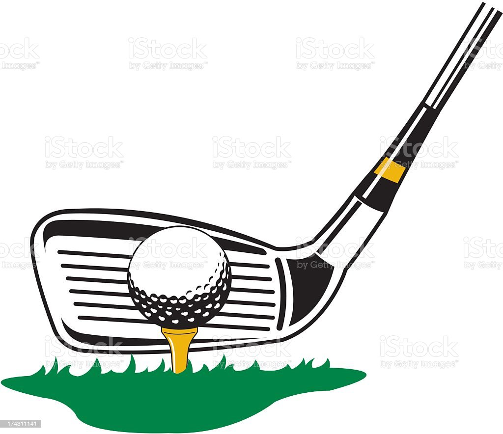 Golf Club and Ball royalty-free stock vector art