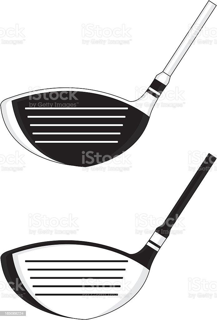 Golf Club Graphic Icon vector art illustration