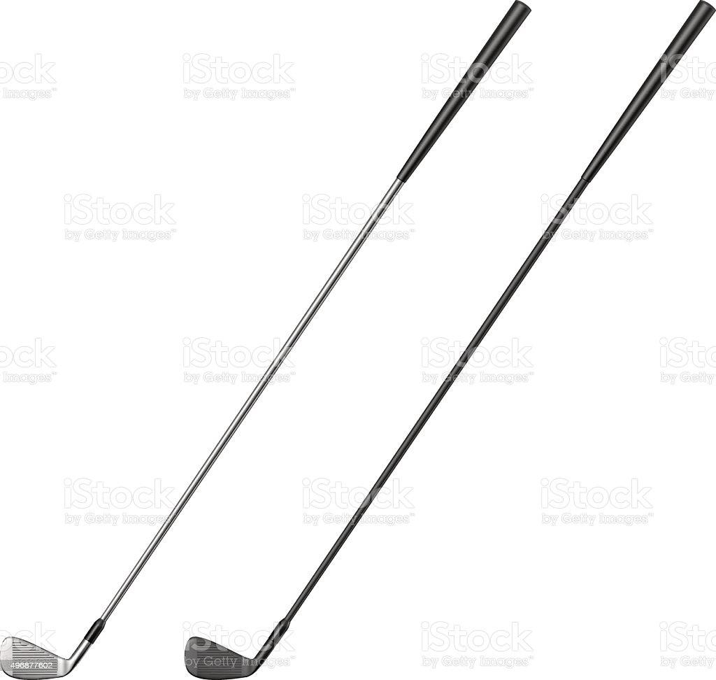 Golf club vector art illustration