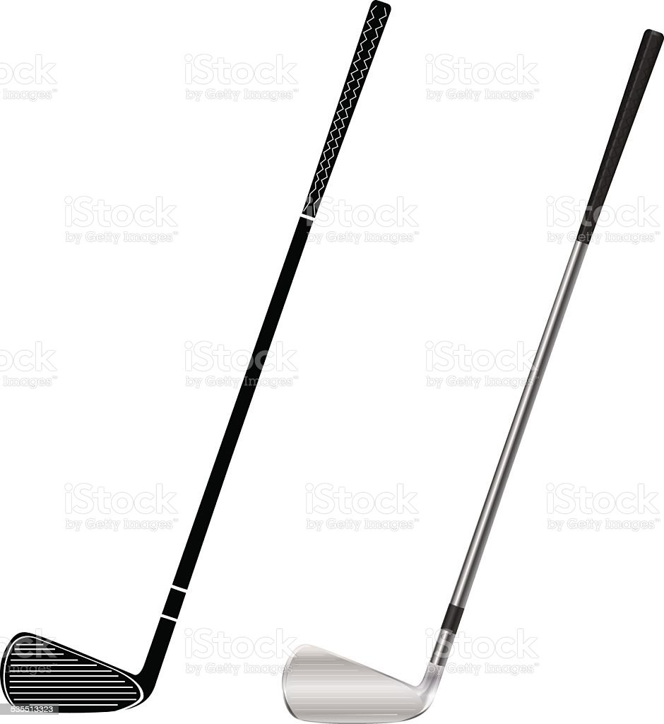 Golf club vector art illustration