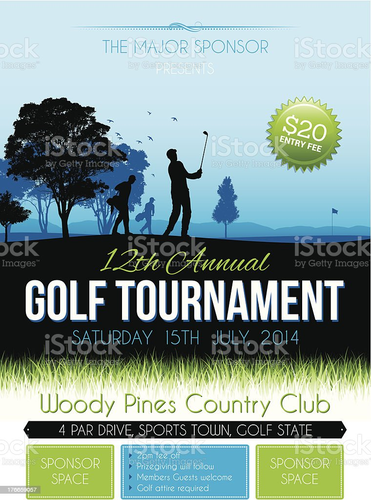 Golf competition royalty-free stock vector art