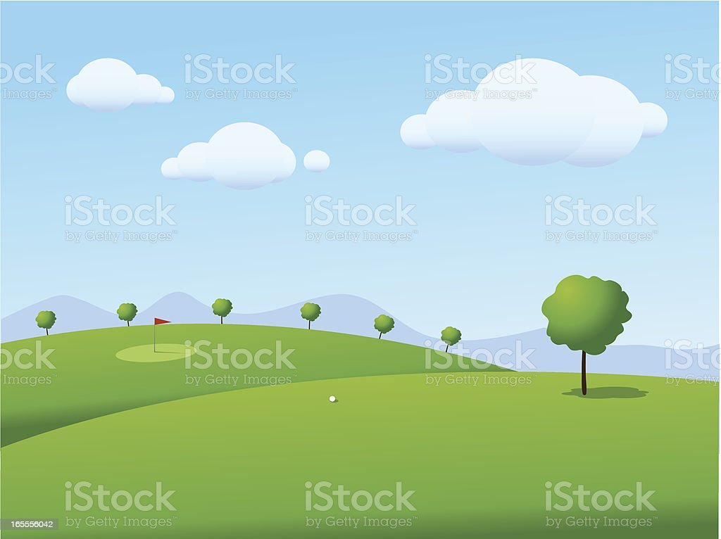 Golf Course royalty-free stock vector art