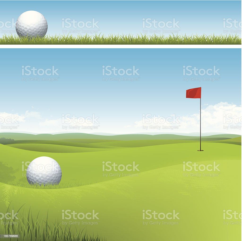 Golf course vector art illustration