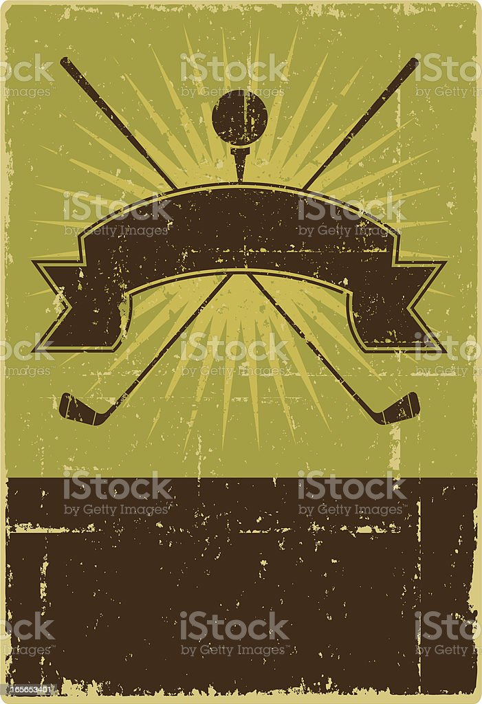 Golf Crest vector art illustration