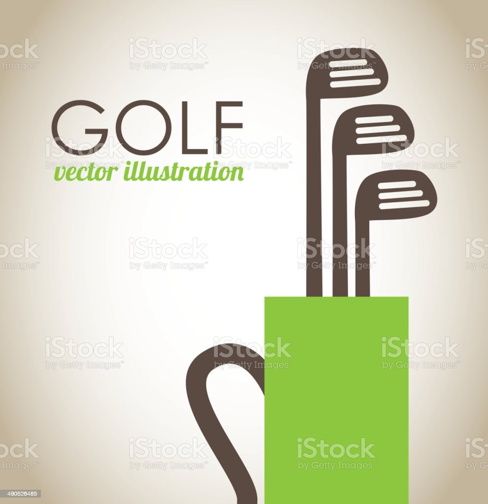golf design vector art illustration