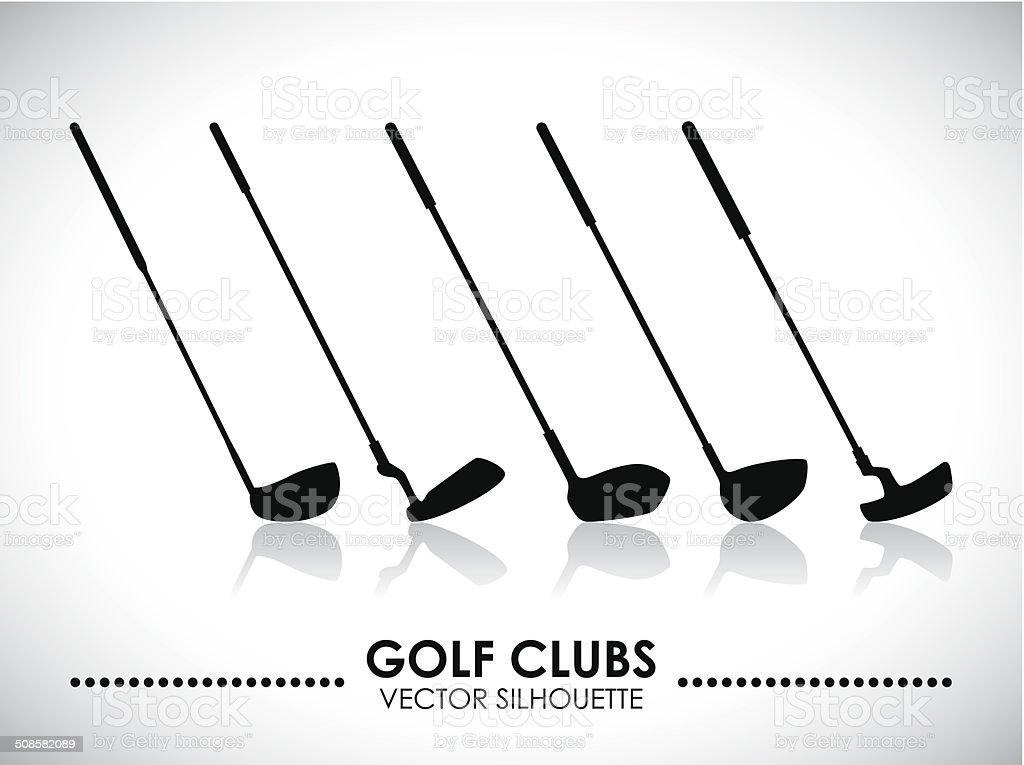 golf design vector art illustration