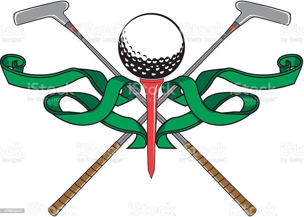 Golf Emblem royalty-free stock vector art