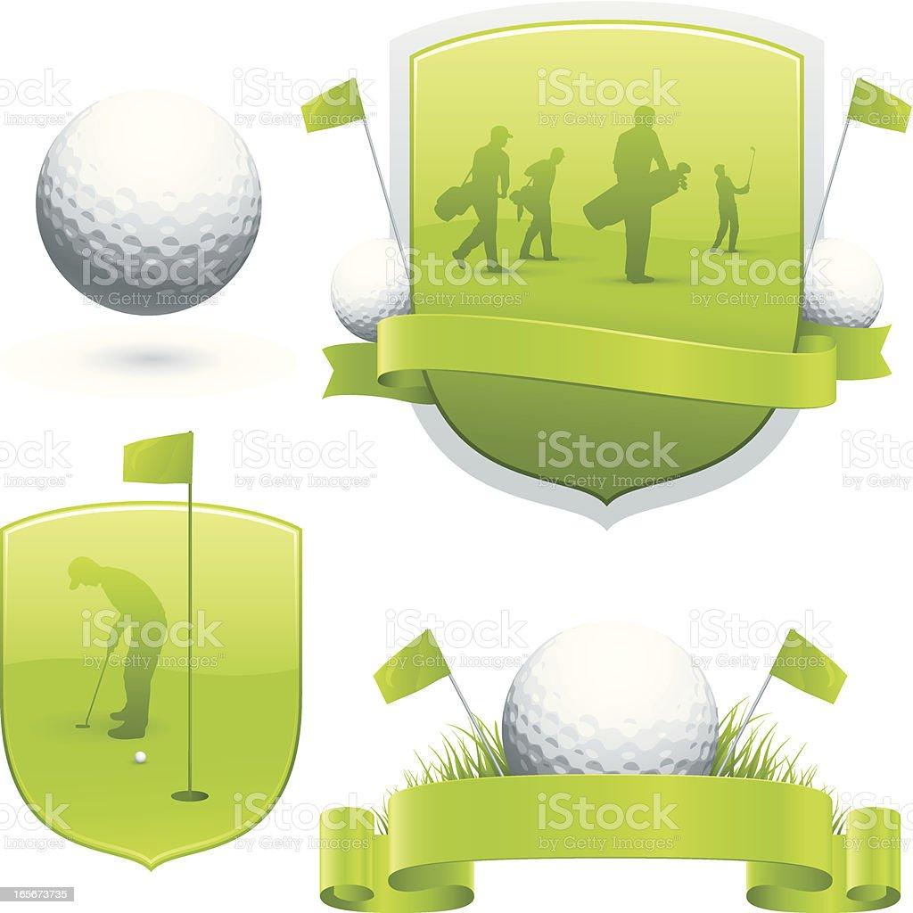 Golf emblems royalty-free stock vector art