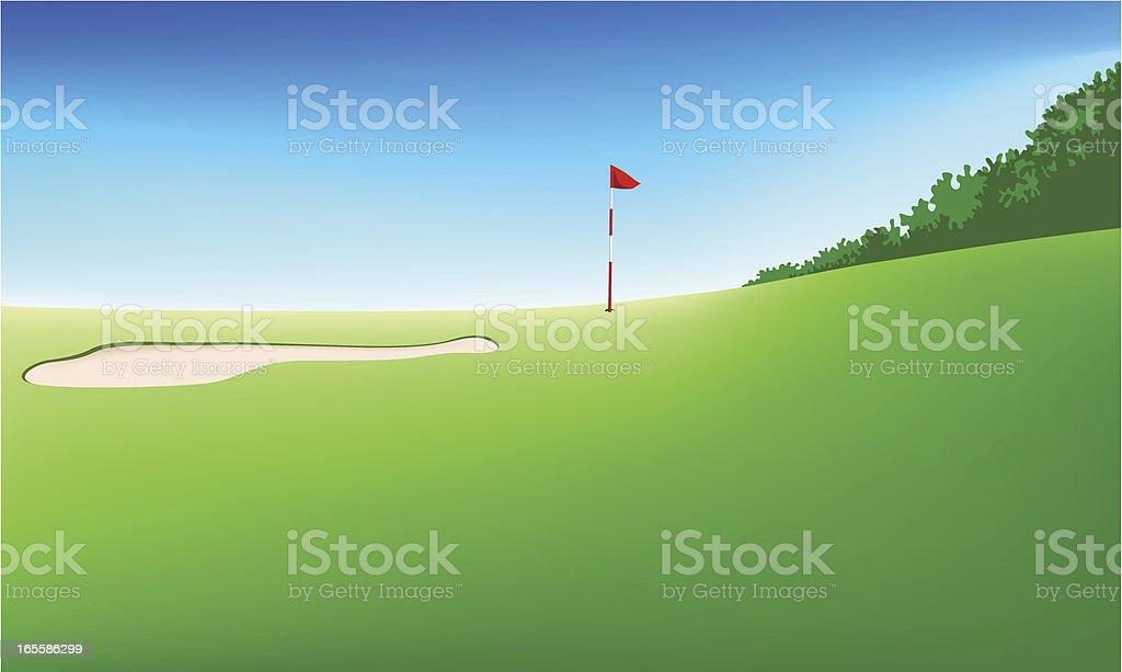 Golf field royalty-free stock vector art