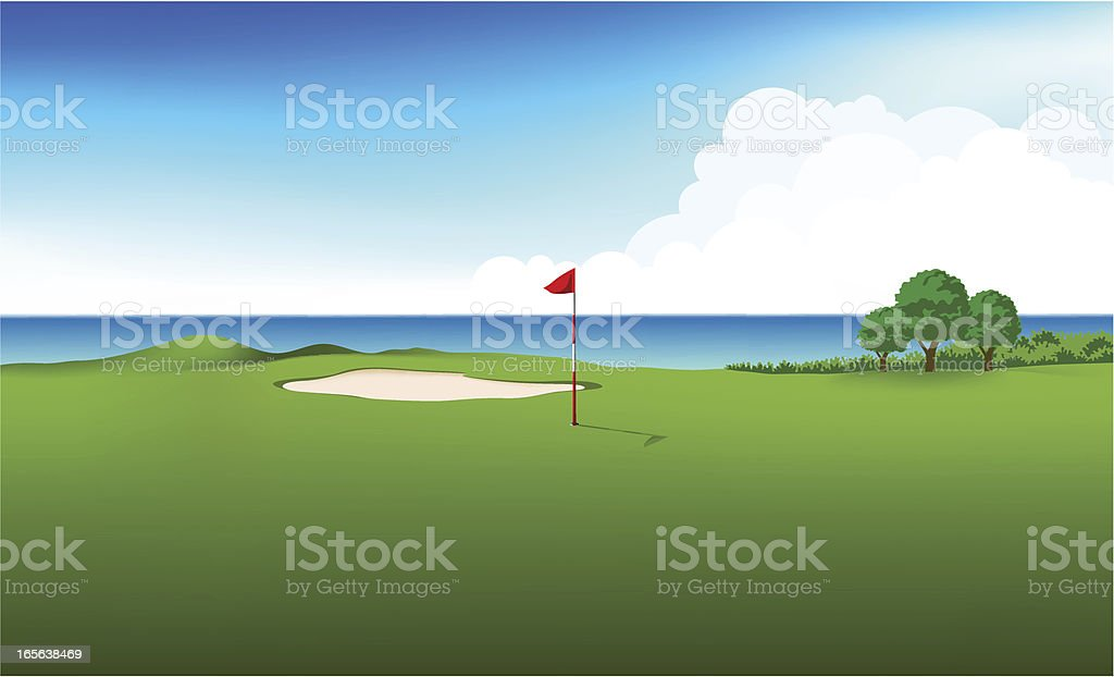 Golf Field royalty-free stock vector art