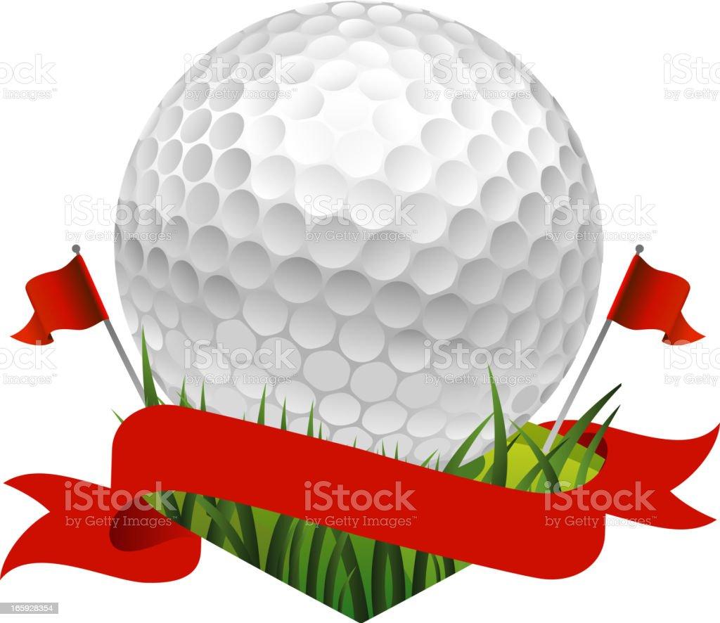golf flag royalty-free stock vector art