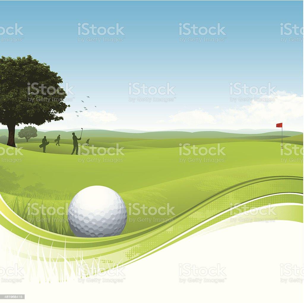 Golf flow background vector art illustration
