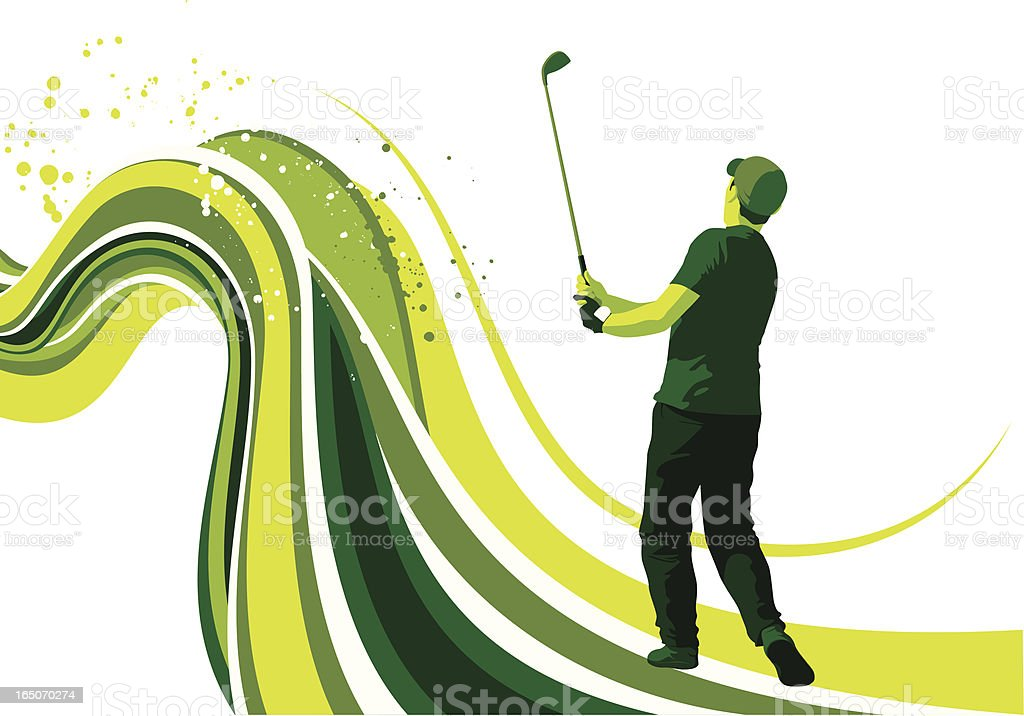 golf flow royalty-free stock vector art