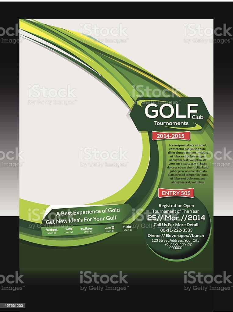 Golf Flyer Template vector art illustration