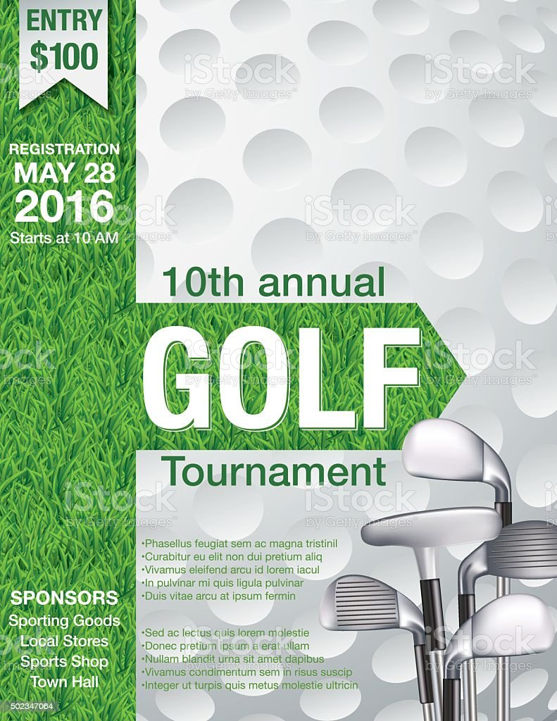 Golf Fundraiser Tournament Template vector art illustration