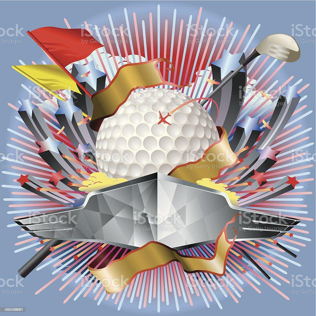 Golf Game Entertainment Vector vector art illustration