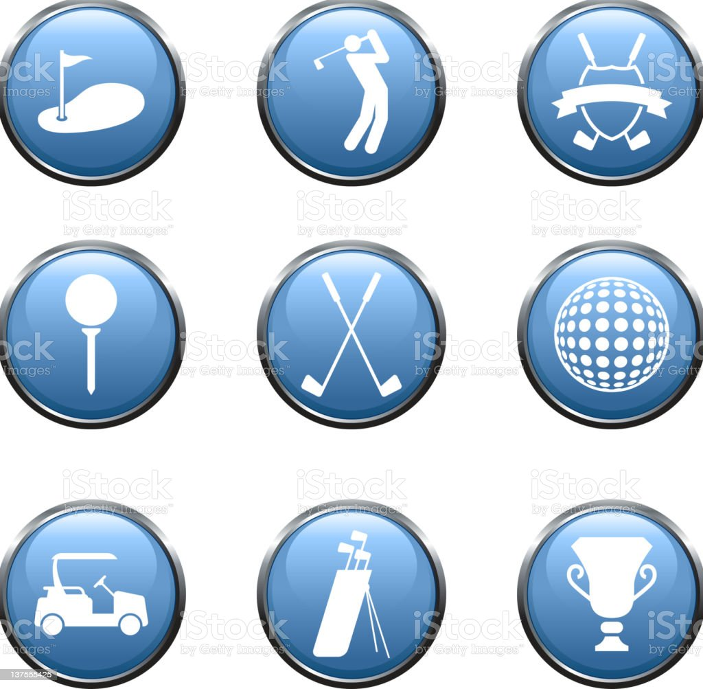 golf golfing royalty free vector arts buttons royalty-free stock vector art