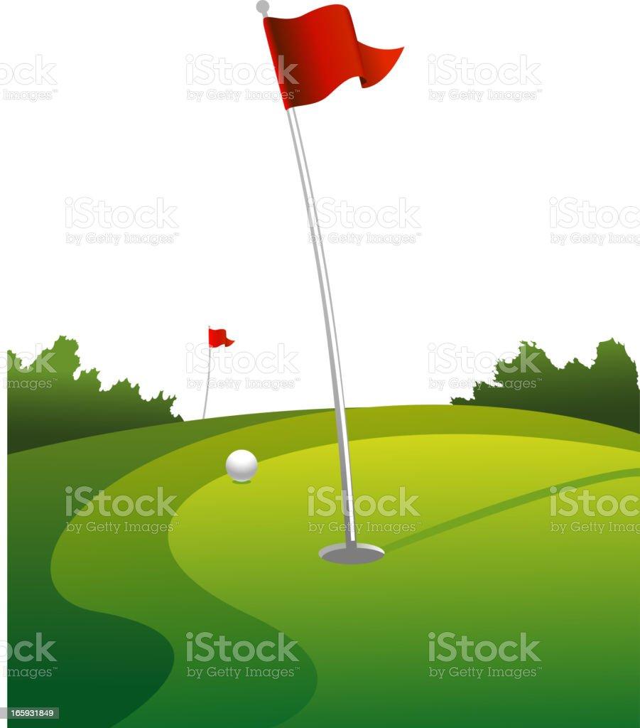 Golf green background vector art illustration