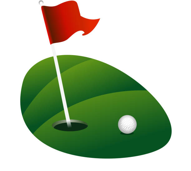 Putting Green Clip Art, Vector Images & Illustrations - iStock